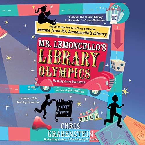 Mr. Lemoncello's Library Olympics audiobook cover art