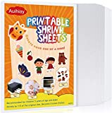 Auihiay 12 Pieces Printable Shrink Plastic Sheets, Shrink Films Papers for Kids Creative Craft, 6 White and 6 Semitransparent, 8.3 x 11.6 inch / 21 x 29.5 cm