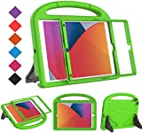 BMOUO Kids Case for iPad 10.2 2019/2020, iPad 10.2 Case - Built-in Screen Protector for iPad 7th Generation Case, Shockproof Light Weight Handle Stand Kids Case for New iPad 10.2' 2019/2020 - Green