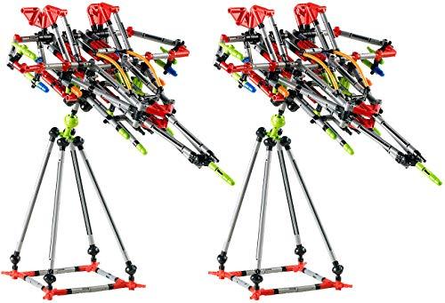 Playtastic Spielzeug-Baukasten: 2er-Set Konstruktionsspielzeug Fortgeschrittene, je 328 Teile (Konstruktions-Spielzeug Erwachsene)