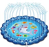 "JOYIN Sprinkler & Splash Play Mat, 68"" Outdoor Water Sprinkler..."
