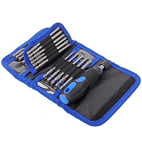 Shexton Juego de Destornilladores alargadores, Juego de Destornilladores alargadores multifuncionales Juego de Herramientas manuales de Destornillador eléctrico ranurado 24 en 1