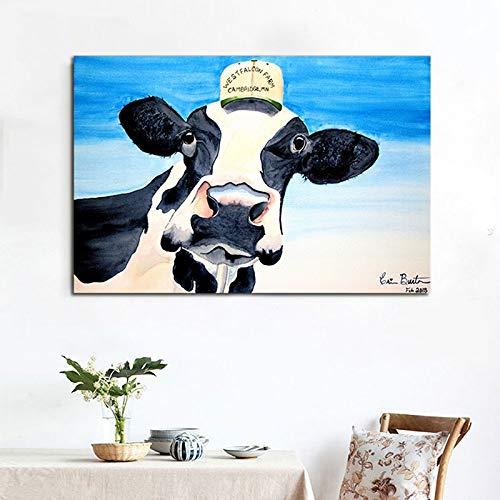 ganlanshu Rahmenlose Malerei Moderne Kunst Tierwandkunst Leinwanddrucke Buttermalerei Inneneinrichtung MalereiZGQ5895 30X45cm