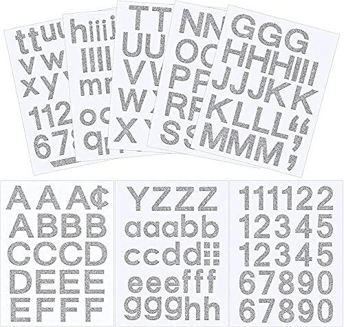 Kit alfanumerico in vinile autoadesivo, per cassette postali, segni, finestre, porte, auto, camion, case, aziende, numeri di indirizzo JXNB (colore: rosa glitterato, dimensioni: 3 pollici)