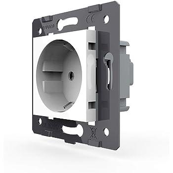 LIVOLO Schutzabdeckung IP44 Wasserdicht für LIVOLO Steckdosen Grau VL-C7-1WF-15