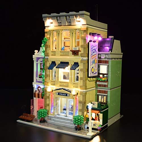 WEEGO LED Beleuchtungsset für Lego 10278 City Police Office, LED Licht Kit Light Set Compatibel mit...