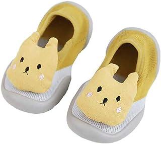 BIGBOBA, Calcetines de Bebé Invierno Suaves Algodón Zapatos con Patrón de Dibujos Animados Suela de Goma Antideslizante Casa Calcetines de Piso Para Recien Nacido Niños Niñas