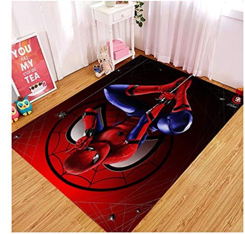 zzqiao Alfombra Antideslizante Alfombra Marvel Avengers Estados Unidos Capitán Spider-Man Iron Man Mats Sala De Estar Dormitorio Baño 80 * 120Cm