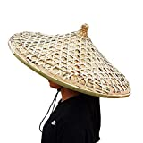 SUNNYHILL Big Size Chinese Hat Bamboo from Hainan China Handmade Dia. 25 Inch