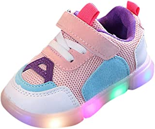 Sunward 0-8 Years Toddler Baby Girls Led Light Shoes Boys Soft Luminous Outdoor Sport Sandals