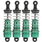 DAUERHAFT RC Sapre Parts 3.1in Shock Struts Damper 4pcs Metal para garantizar el Alto Rendimiento de los Coches de Control Remoto para WLtoys 144001 1/14 RC Car(Green)