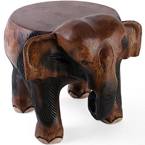 Schöne Hand geschnitzte Acacia Holz Elefant Kleiner Tisch-Hocker-Blumentopf-Standplatz