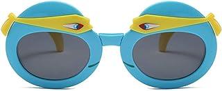 Pteng - Gafas de sol polarizadas para niños con personalidad 100% UV400 Gafas de protección Irrompibles, flexibles, de seguridad, Gafas plegables de silicona para niñas y niños de 3 a 12 años