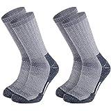 Vihir Merino Wool Thermal Crew Men's Socks For Winter Hiking ,Athletic Socks Thermal Outdoor Sports Warm Socks for Cold Weather 2 pair