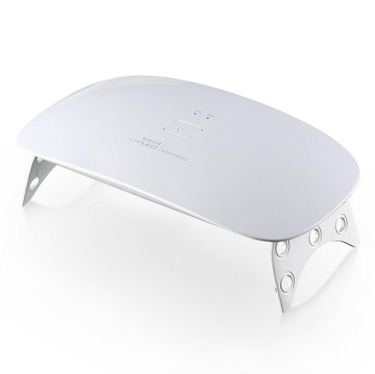 夜明けにトースト通行料金ジェルネイルライト24w 高速硬化 ハイパワー 人感センサー 赤外線物理療法 USB式 タイマー 速乾 手足両用 【一年保証】 (白)