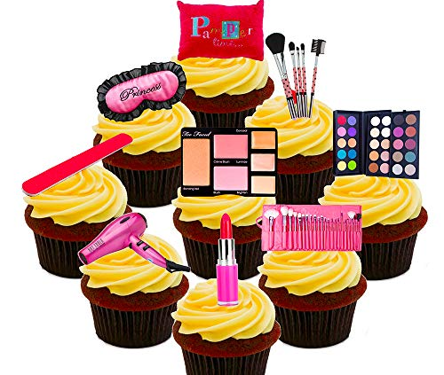 Made4You essbare Cupcake-Dekorationen, Beauty-Prinzessin-Set, aus Esspapier, zum Aufstecken, Pack of...
