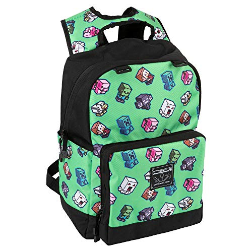 JINX Minecraft 17inch Mini Mobs Cluster Green Backpack