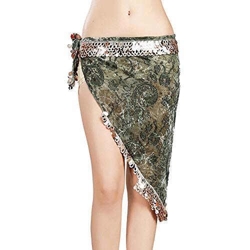ROYAL SMEELA Bauchtanz Hüfttuch Damen Frau Flamenco Tanz kostüm Bauchtanz Hüften schals Kostüme Stammes Volk Tanzendes Outfit Dreieck Wickel Gürtel Rock