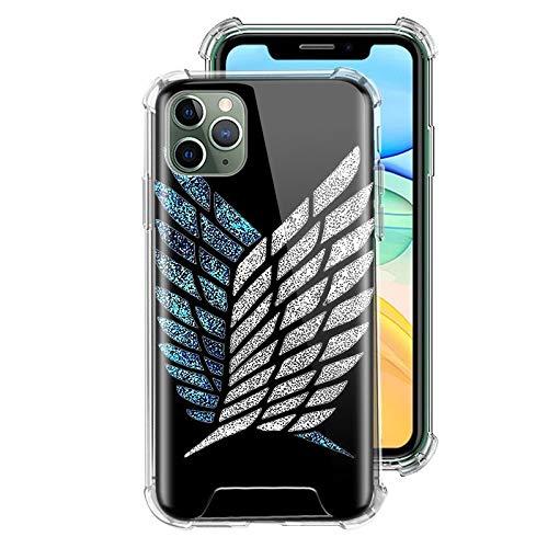 ZENGMING Attack On Titan Case für Apple iPhone Clear Soft Airbag Anti Handyhülle Schutzhülle A09 für iPhone 7 (iPhone 8) Hülle
