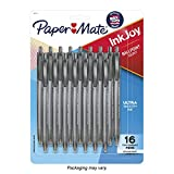 Paper Mate InkJoy 100RT Retractable Ballpoint Pens, Medium Point, Black, 16 Pack (1952705)
