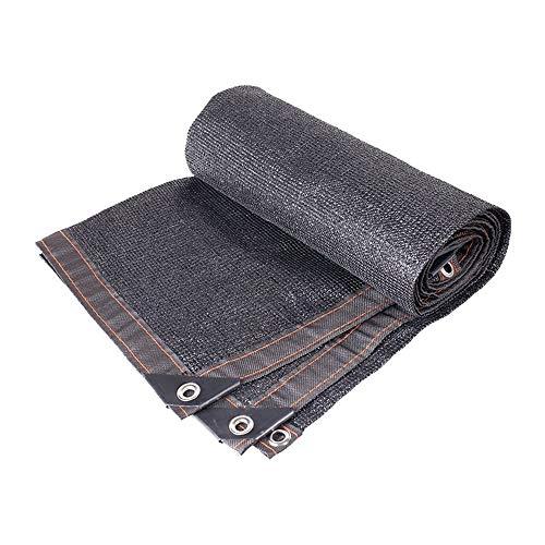 Guoyajf Parfait Sunblock Shade Cloth avec des œillets 70% UV Noir pour Couverture végétale À Effet de Serre Étable Chenil Piscine Pergola ou Piscine Terrasse extérieure,5m×10m