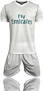 XSSC Camiseta Copa Mundial 17-18 Temporada Real Madrid Traje de fútbol Local Real Madrid Traje de Manga Corta C Ronaldo White-L