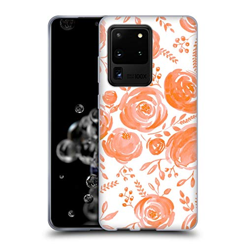 Head Case Designs Officially Licensed Anis Illustration Peach Roses Flower Pattern 4 Soft Gel Case Compatible with Samsung Galaxy S20 Ultra 5G