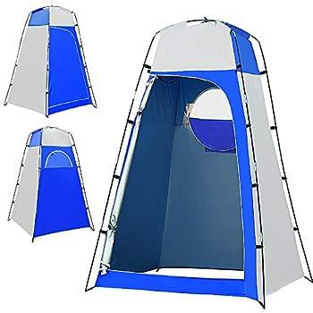 Lixada Tente d'intimité Portable Tente de Toilette Rideau de Douche avec Sol Amovible pour Camping de Plage, Alpinisme, Extérieur, Randonnée, Pêche