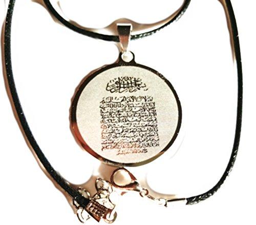 (2) Schutz rund Ayatul Kursi Halskette Geschenk Eid Ayat al Kursi Muhammad dieses Fest Islamisches Opferfest Ramadan Haddsch ʿumra Day Of arafah