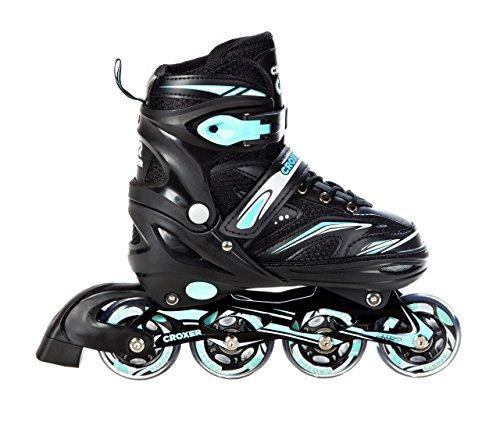 Croxer Inline Skates Inliner Optima Black/Mint verstellbar (39-42(24cm-26,5cm))