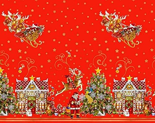 Westernlifestyle tafelkleed kerstdeken afwasbaar wasdoek deken kerstmis kerstman kerstboom rendier