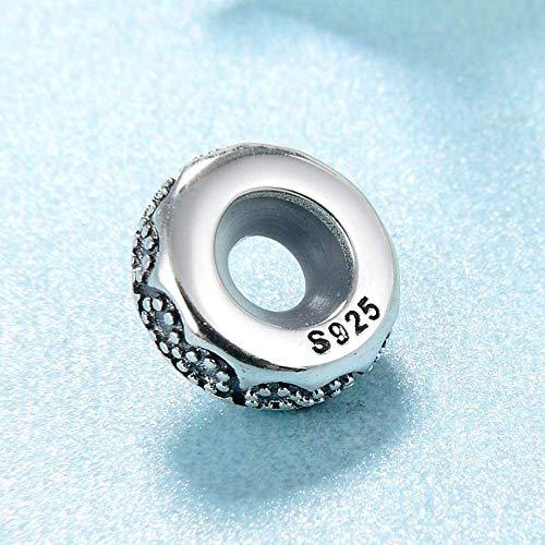 Charm Kralen,925 Sterling Zilver Spacer Graveren Eeuwige Charme Kralen Passen Originele Charms Armband Armbanden Sieraden