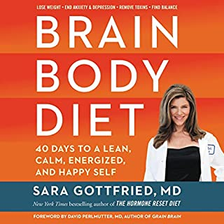 Brain Body Diet     40 Days to a Lean, Calm, Energized, and Happy Self              By:                                                                                                                                 Sara Gottfried                               Narrated by:                                                                                                                                 Tanya Eby                      Length: 10 hrs and 47 mins     23 ratings     Overall 4.2