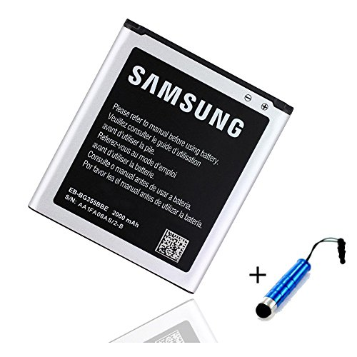 World of Technik EB-BG355BBE - Batteria originale Samsung per Samsung Galaxy Core 2 SM-G355H - 2000 mAh + pennino capacitivo