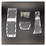 Yuanmei Accesorios for el Coche en Forma for el 3 de BMW Serie 5 E30 E32 E34 E36 Cojines del Pedal de E38 E39 E46 E87 E90 E91 X5 X3 Z3 Acelerador Freno de reposapiés (Color Name : Drill for AT 3pcs)