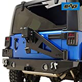 EAG Compatible with JK Rear Bumper with Tire Carrier 07-18 Wrangler