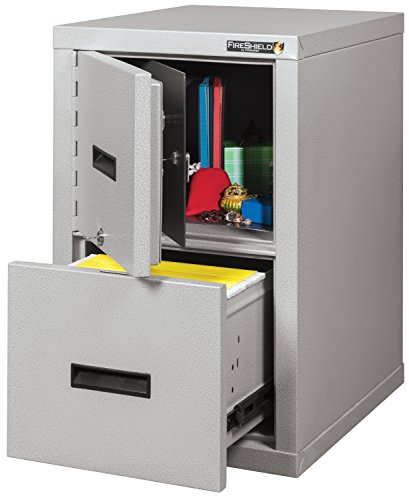 Fire Resistant File Cabinet - Light weight, fire rated, One file drawer & safe