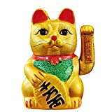 9' Lucky Cat ǧÍòÁ½ Waving Arm Cat Porcelain Maneki Neko