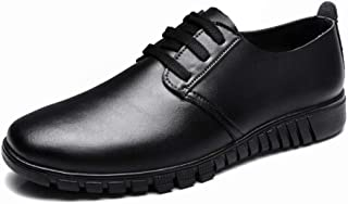Sygjal Men's Oxfords Comfortable Cowhide Vamp Soft Outsole Breathable Leisure Shoes (Color : Blue, Size : 42 EU)