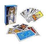 cineman 78 cartas, juego de cartas del tarot ruso en caja colorida para principiantes, destino de adivinación