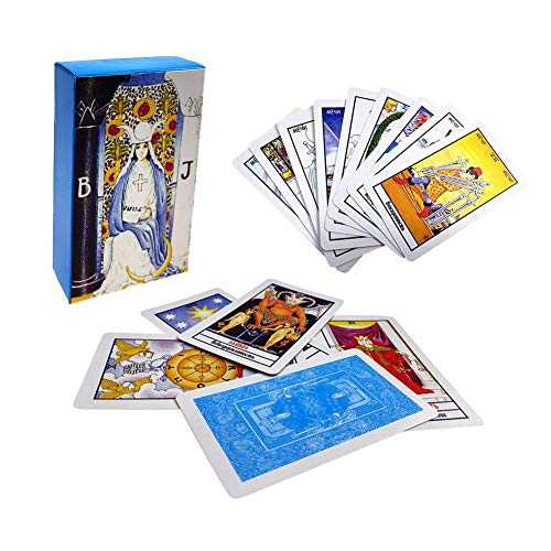 cineman 78 Karten, russische Tarotkarten, Zukunftsspiel, in farbenfroher Box, für Anfänger, Wahrsagung, Schicksal, Tarotkarten-Spiel