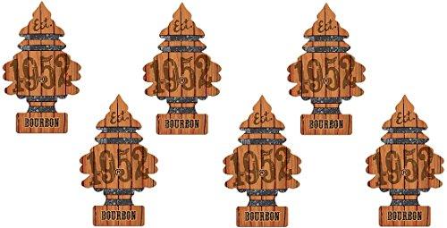 Little Trees Car Air Freshener 6-Pack (Bourbon)