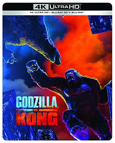 Godzilla vs Kong [4K Ultra HD 3D + Blu-Ray-Édition Limitée SteelBook]