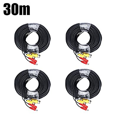 BNC Video Power Cable FLOUREON CCTV Security Camera Wire Cord for DVR House Security Camera System 100/150 Feet Long