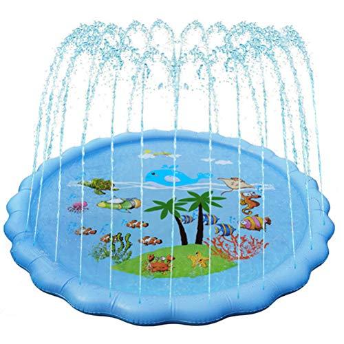 Outdoor PVC Spray Speelgoed van de pool, in hoogte verstelbaar Kinderen Summer Sprinkler Kussen Baby Beach Toys Water Spray Mat, voor peuters en kinderen 170cm,B