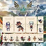 12 PCS Monster Hunter Stories 2 Wings of Ruin NFC Amiibo Cards MH Rise Mini Card, Include ENA/Razewing Ratha/Tsukino, Compatible with Switch/Lite/Wii U (Mini Card Size)