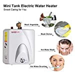 Camplux ME25 Mini Tank Electric Water Heater 2.5-Gallon with Cord Plug,1.5kW at 120 Volts 11 4-gallon point-of-use mini-tank fits under your sink to provide hot water right where you need it Electric water heater is easy to maintain and has glass-lined tank for long service life Thermostat Control allows adjustment of water temperature.High Limit device provide protection while overheating.