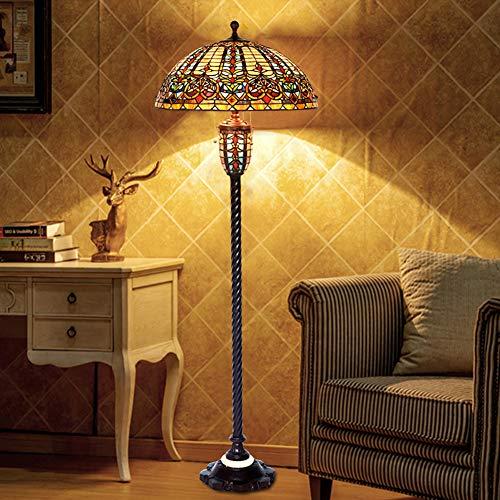 LaMP-XUE Tiffany-Art-vloerlamp 22 inch Europese decoratie woonkamer lamp barok vloerlamp voor slaapkamer woonkamer leeslampen