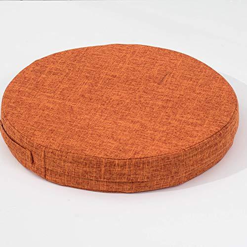 AMYDREAMSTORE Supper Soft Cushion Round Memory Foam Seat Cushion Short Plush Lumbar Support Pillow Home Office Chair Pad-Orange diameter 50cm(20inch)