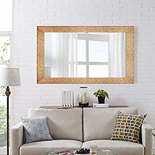 Hans & Alice Large Wall Mirror for Bathroom, Bedroom, Living Room Hanging Horizontal or Vertical, Dressing or Full Length Mirror Commercial Grade 90+ CRI (47'' x 28'')